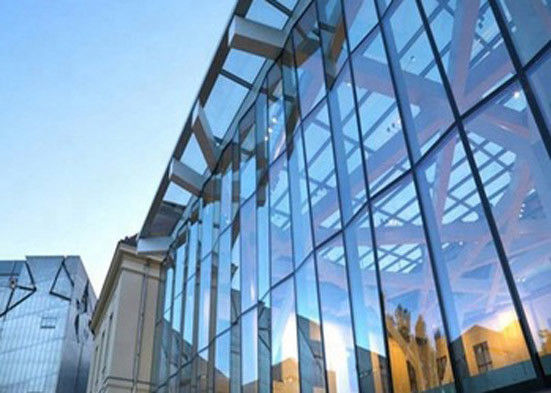Simple Style Solar Tempered Glass , Anti Reflective Commercial Building Glass